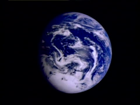 CU Earth from space spinning, southern hemisphere, animation, computer graphics