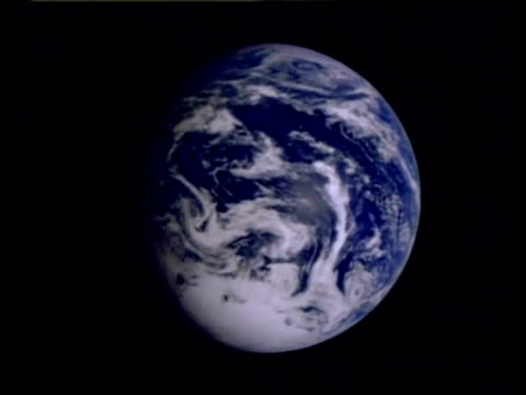 cu earth from space spinning, southern hemisphere, animation, computer graphics - southern hemisphere stock videos & royalty-free footage