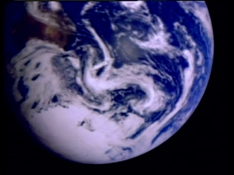 ecu earth from space spinning, southern hemisphere, animation, computer graphics - southern hemisphere stock videos & royalty-free footage