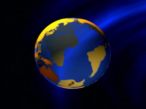 Erde Globus explosion (PAL 0,25 GBP