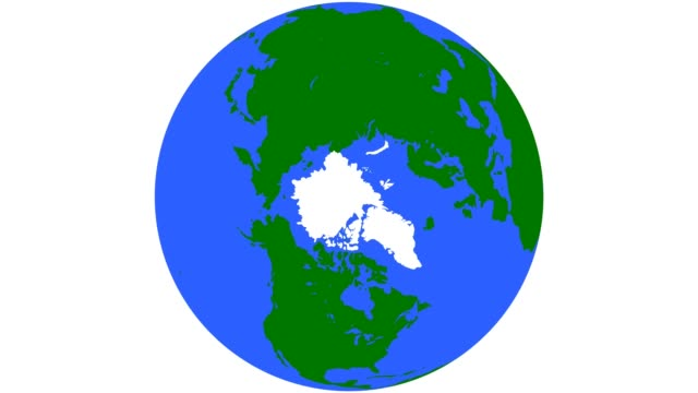 earth globe green continents blue oceans - north pole stock videos & royalty-free footage