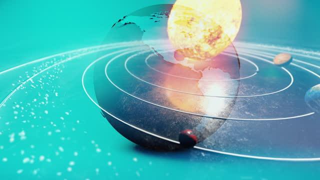 earth globe in solar system - blockchain stock videos & royalty-free footage