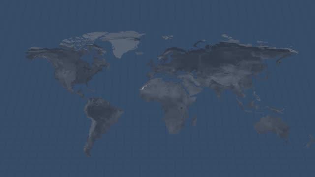 地球のグローブマップ-西サハラ使用できると終点でアルファチャネル遷移を持つ国地図 - モーリタニア点の映像素材/bロール