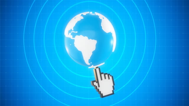 Earth Globe on the Click - 4K