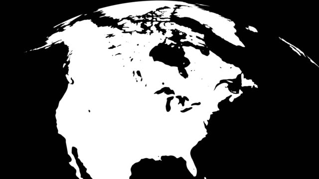 erde globus weiß kontinente und schwarzwasser - europa kontinent stock-videos und b-roll-filmmaterial