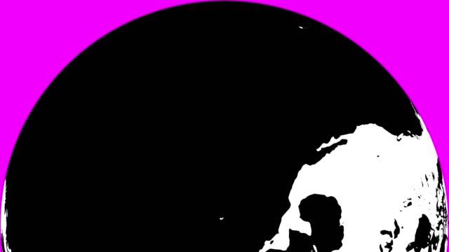 白い大陸と黒海と地球 - digital animation点の映像素材/bロール