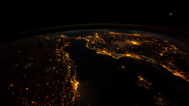 earth images from nasa space station: amazing earth pictures or views from the iss - panning stock videos & royalty-free footage