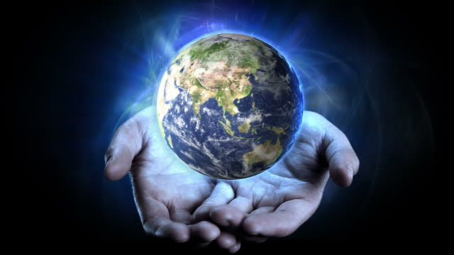 earth in hands. - rescue stock videos & royalty-free footage