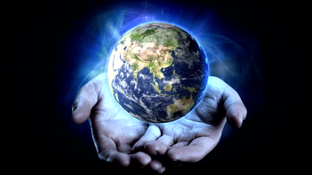 earth in hands. - god stock videos & royalty-free footage