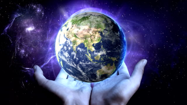 earth in man's hands - god stock videos & royalty-free footage