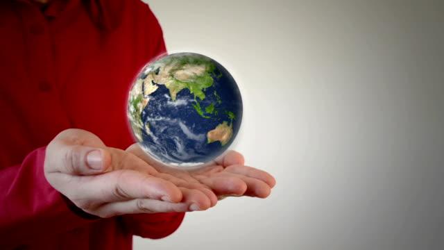 Earth in man's hands