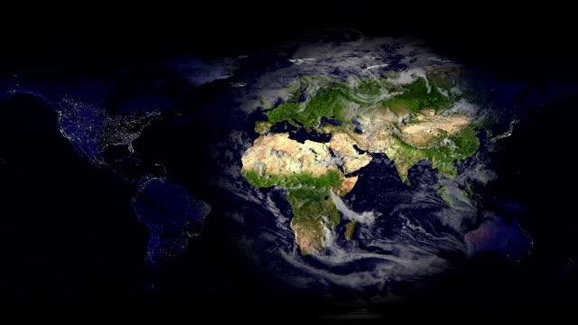 Kaart van de aarde dag en nacht