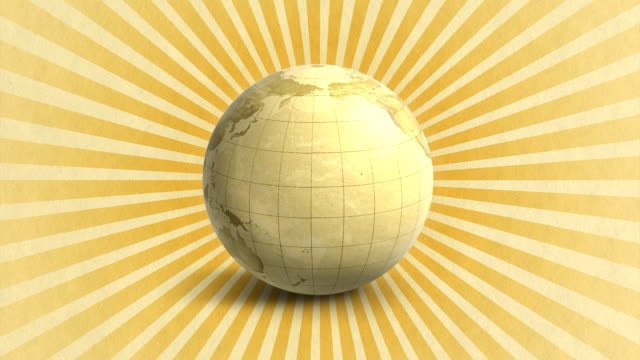 earth map globe rotation (hd 1080) - longitude stock videos & royalty-free footage