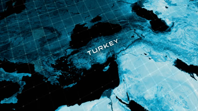 4k earth map turkey zoom - non us location stock videos & royalty-free footage