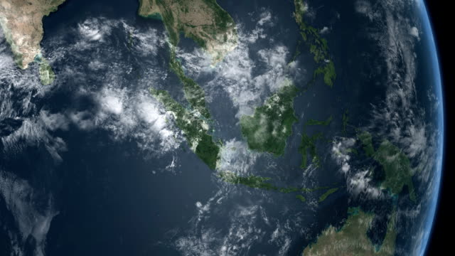 earth middle q7 indonesia asia - indian ocean africa - indonesia map stock videos & royalty-free footage