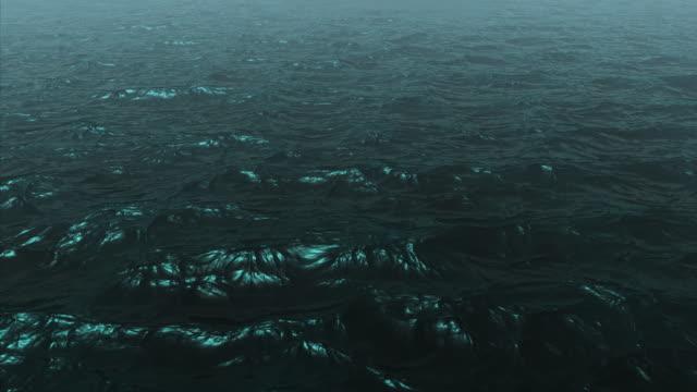 Terra di spazio cosmico su oceano-globale