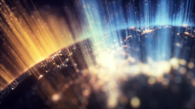 vidéos et rushes de particules de terre - mondial