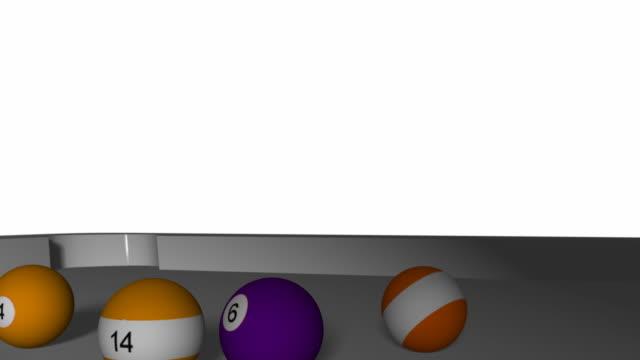 アースプール-ビリヤード - キューボール点の映像素材/bロール