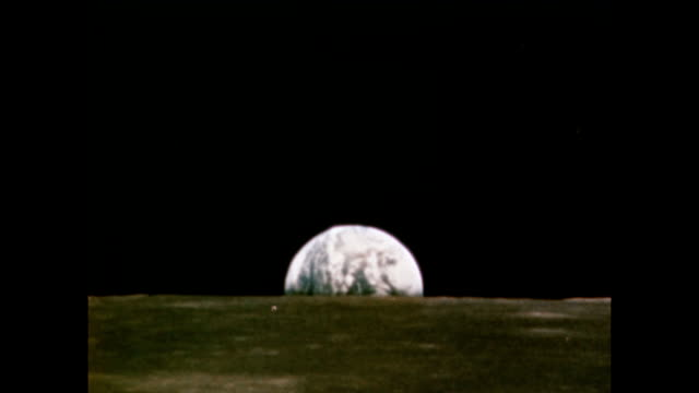 / earth rising as seen from the surface of the moon Earth rise as seen from the surface of the moon on January 01 1971 in In Space