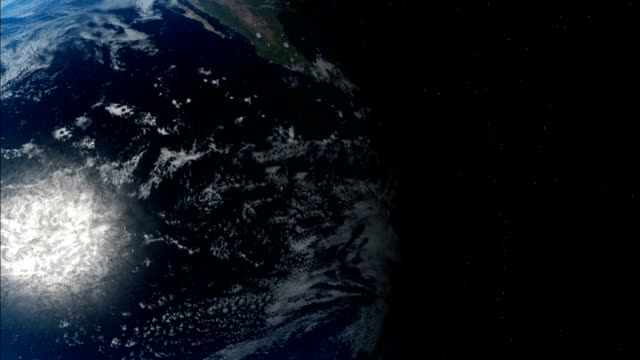 Earth rotating as seen from space Available in HD.