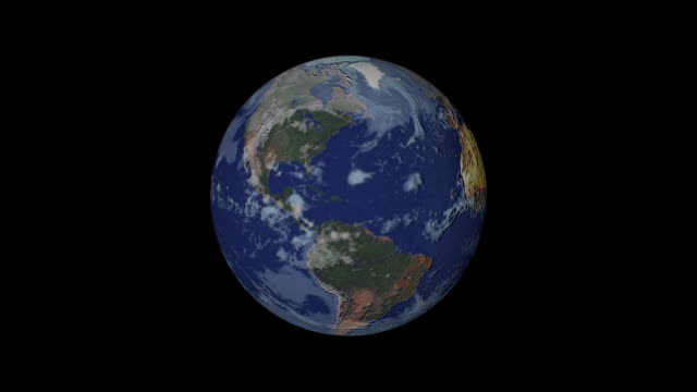 vidéos et rushes de earth rotating. - globe terrestre