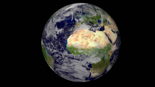 earth rotation - サテライト写真点の映像素材/bロール