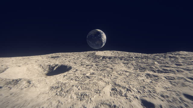 earth seen from moon - animation moving image stock videos & royalty-free footage