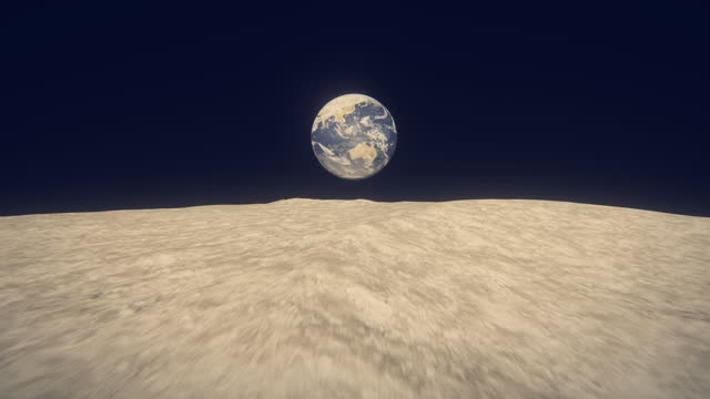 earth seen from moon - space exploration stock videos & royalty-free footage