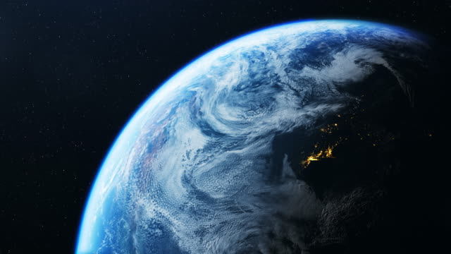 earth seen from space 4k - north america stock videos & royalty-free footage