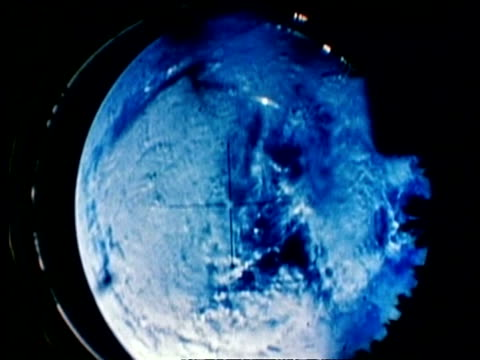 earth seen through mercury atlas periscope - aerospace stock videos & royalty-free footage