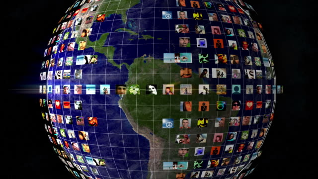 Earth Social Network Profile Picture Grid