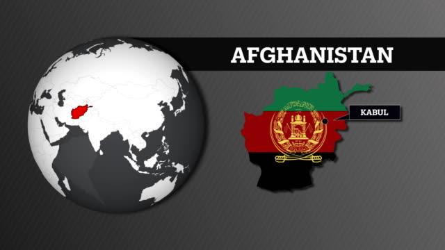 Erdkarte Kugel und Afghanistan Landkarte mit Nationalflagge