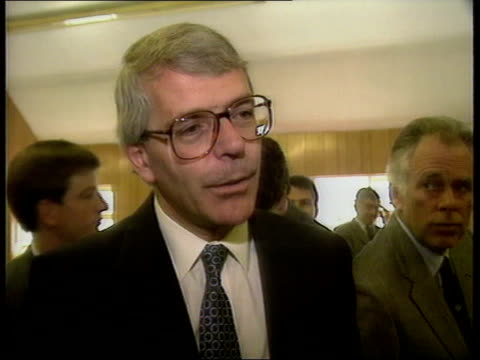 earth summit cf tape no longer available john major mp from car pan lr greeted and waves zoom cms pm john major mp intvwd sof expectations for rio... - 1992 stock videos and b-roll footage