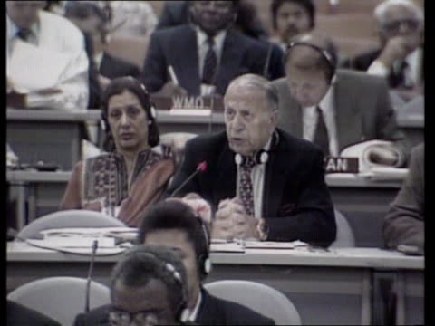 final day; brazil rio de janeiro united nations conf of environment & development' banner of conf table fidel castro seated at conf delegation of... - environmentalist stock videos & royalty-free footage