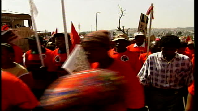 Earth Summit Thousands demonstrate Marchers along TGV March towards