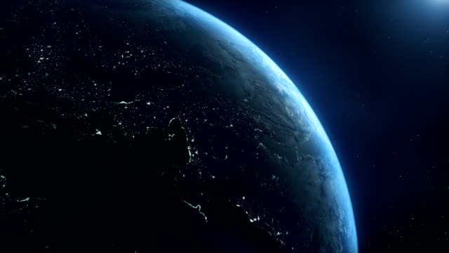 earth sunrise space daytime and night - topography stock videos & royalty-free footage