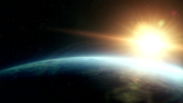 earth sunrise space - animation moving image stock videos & royalty-free footage