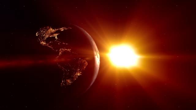 earth sunrise - antarctica night stock videos & royalty-free footage