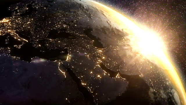 earth sunrise - space exploration stock videos & royalty-free footage
