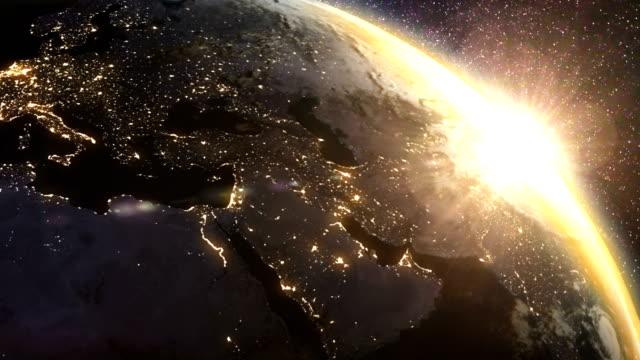 Erde Sonnenaufgang