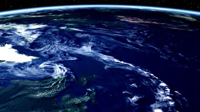 timelapse de la terre depuis l'espace.