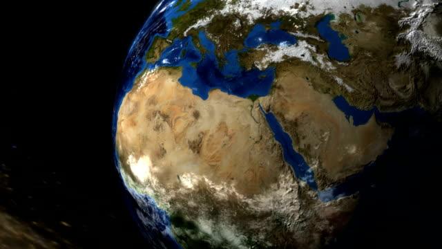 vídeos de stock, filmes e b-roll de planeta terra - menos zoom