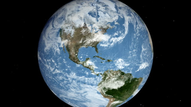 earth view from space blue marble - planet space stock videos & royalty-free footage