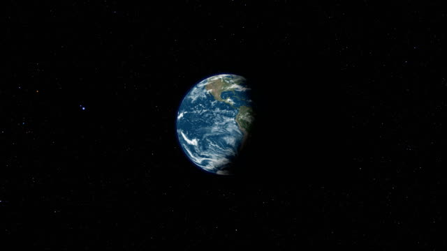 earth view from space loop - turning stock videos & royalty-free footage