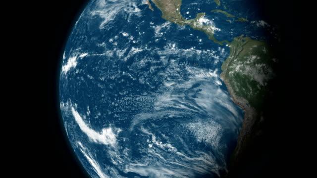 Ansicht der Erde aus dem Weltraum