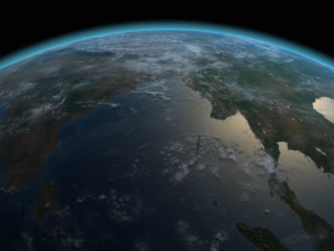 earth views - northern hemisphere - northern hemisphere stock videos & royalty-free footage