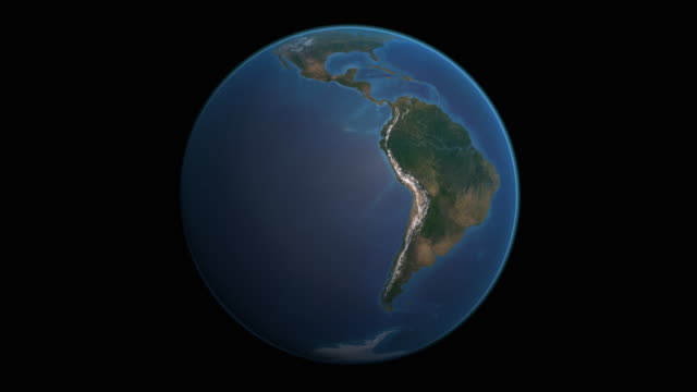 earth views- southern hemisphere and six continents - southern hemisphere stock videos & royalty-free footage