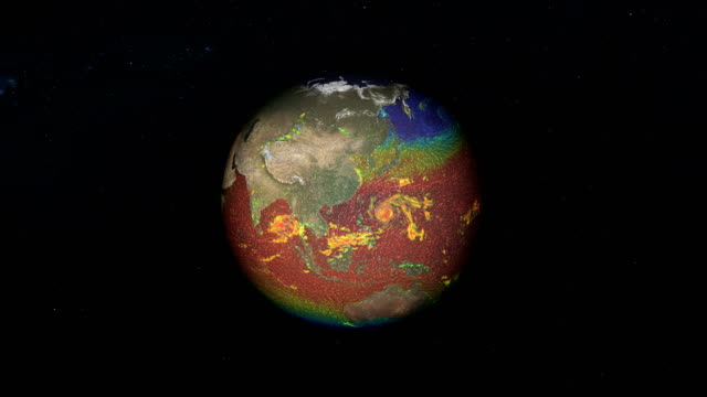 stockvideo's en b-roll-footage met earth wind richtingen. nasa public domain beelden - meteorologie