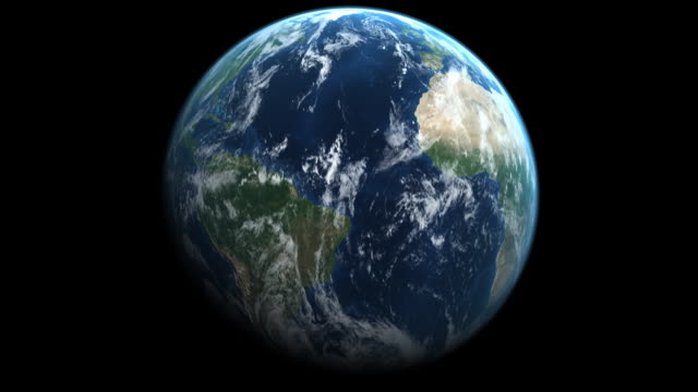 earth with correct rotation - single object stock videos & royalty-free footage