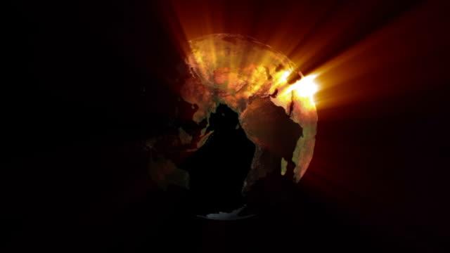 Earth with shine